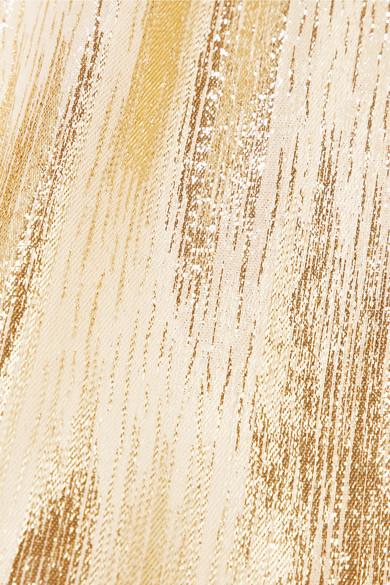 Vanessa Seward Lightning Oberteil aus Lamé aus einer Seidenmischung