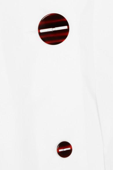 Isa Arfen Oberteil aus Baumwollpopeline mit Faltendetails