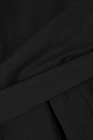 Isa Arfen Asymmetrisches Oberteil aus Baumwollpopeline mit Raffungen