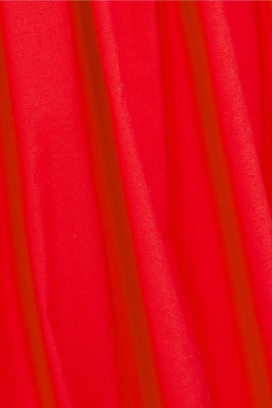 Isa Arfen Bubble gerafftes Midikleid aus Baumwollpopeline Spielraum Veröffentlichungstermine skqLy5tuK