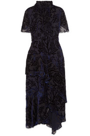 Peter Pilotto Flocked chiffon midi dress
