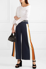 Peter Pilotto Striped satin-trimmed cady culottes