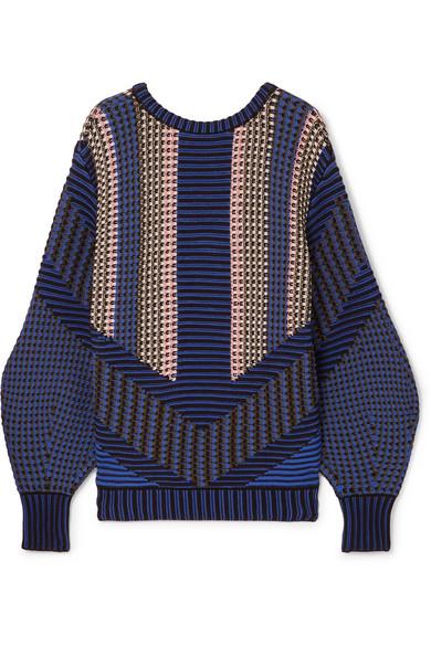 Peter Pilotto Jacquard-Pullover aus einer Baumwollmischung