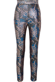 Peter Pilotto Metallic jacquard tapered pants