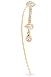 Arquette 14-karat gold, sapphire and diamond earring