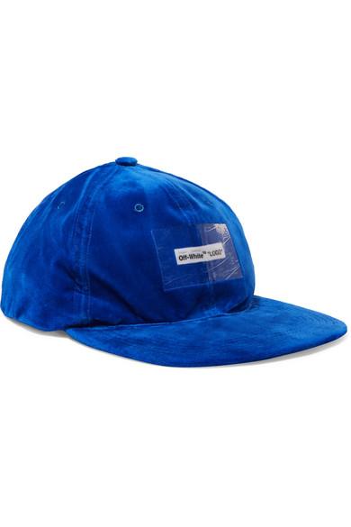 Off-White - Appliquéd Velvet Baseball Cap - Blue