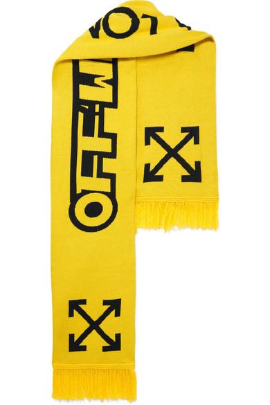 Off-White - Cotton Scarf - Yellow