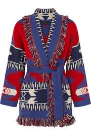 a6ee8fe8d3 Alanui - Fringed cashmere-jacquard cardigan