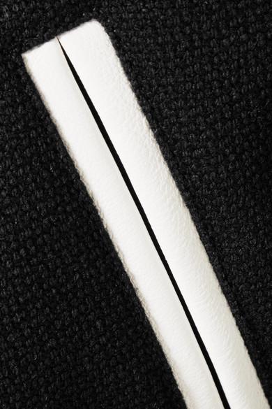 Saint Laurent Teddy Bomberjacke aus einer Wollmischung mit Lederbesätzen