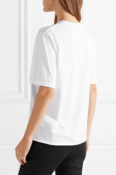 Saint Laurent Bedrucktes T-Shirt aus Baumwoll-Jersey