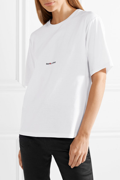 cbceb9b9bd3b SAINT LAURENT | Printed cotton-jersey T-shirt | NET-A-PORTER.COM