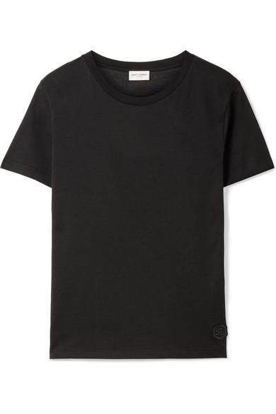 Saint Laurent T-Shirt aus Baumwoll-Jersey