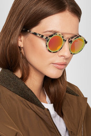 Freda Banana Martin embellished round-frame acetate and rose gold-tone sunglasses