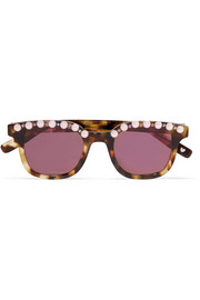 Jules embellished cat-eye acetate sunglasses