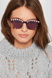 Freda Banana Jules embellished cat-eye acetate sunglasses