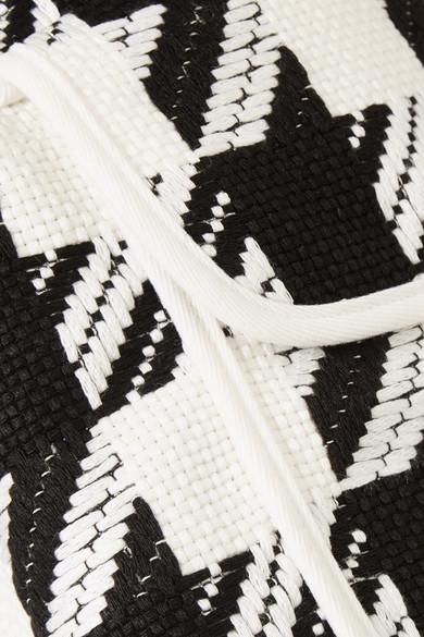 Pierre Balmain Shorts aus Tweed mit Hahnentrittmuster