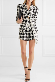Houndstooth tweed shorts