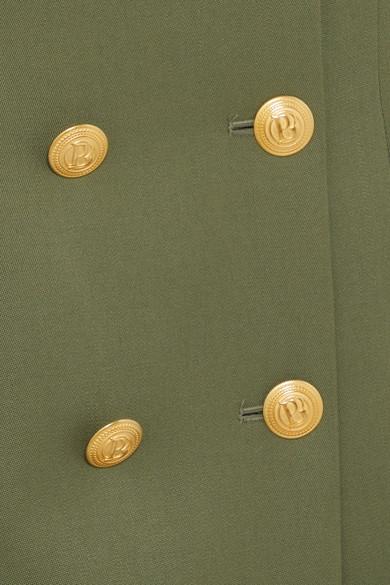 Pierre Balmain Doppelreihiges Minikleid aus Woll-Twill