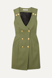 Pierre Balmain Double-breasted wool-twill mini dress