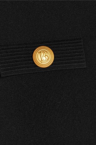 Pierre Balmain Minikleid aus Stretch-Strick mit Verzierung