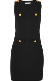 Pierre Balmain Embellished stretch-knit mini dress