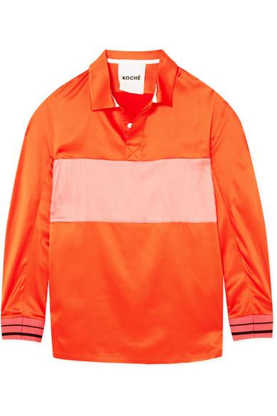 Koché Gestreiftes Hemd aus Satin
