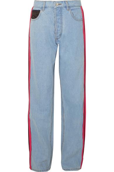 Koché Jeans mit weitem Bein und Streifen