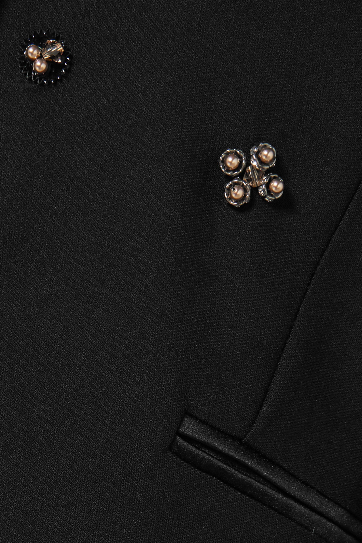 Koché Embellished satin-trimmed crepe blazer