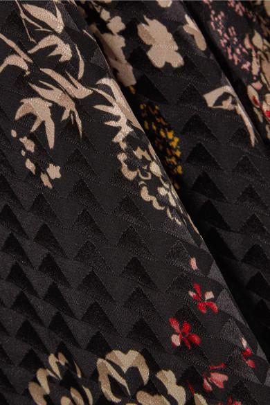 Erstaunlicher Preis Suche Nach Günstiger Online Saloni Lea Maxikleid aus Seiden-Jacquard mit Blumendruck Ansicht Verkauf Online Rabatt Top-Qualität Billig Große Überraschung dJwca