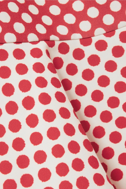 Saloni Gail cutout polka-dot cady midi dress
