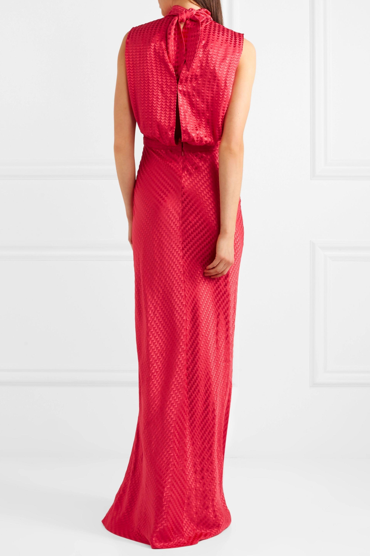 Saloni Fleur silk-jacquard gown