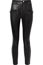 Unravel Project Appliquéd leather skinny pants