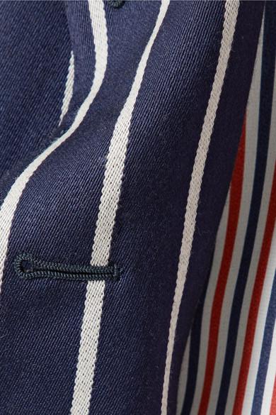 Thom Browne Gestreifter Blazer aus einer Woll-Baumwollmischung