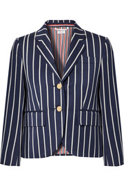 Thom Browne Striped wool and cotton-blend blazer