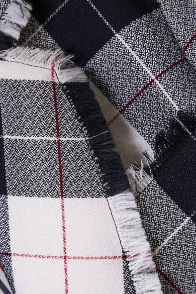 Thom Browne Doppelreihiger Blazer aus einer karierten Wollmischung