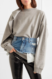Denim waist belt