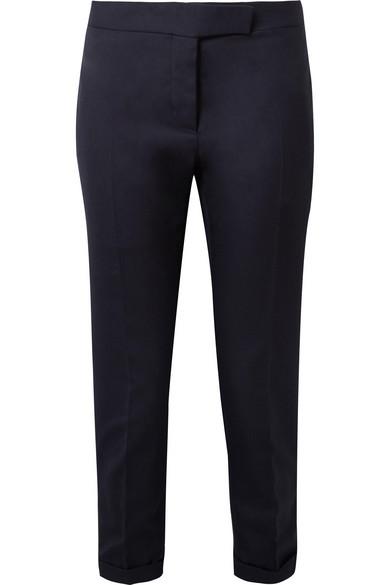 Thom Browne Verkürzte eng geschnittene Hose aus Woll-Piqué