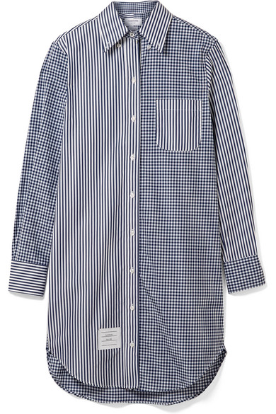 Thom Browne Hemdblusenkleid aus Baumwollpopeline in Oversized-Passform
