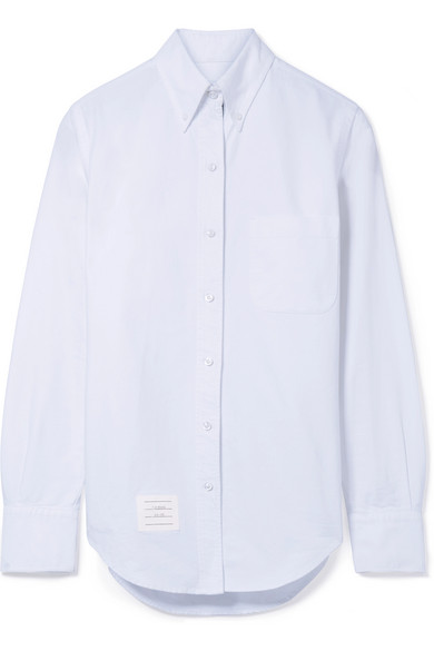Thom Browne Hemd aus Baumwoll-Oxford mit Applikation