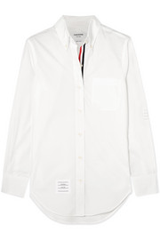 Thom Browne Appliquéd cotton-poplin shirt