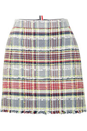 Thom Browne Frayed cotton-blend tweed mini skirt