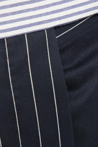 Thom Browne Patchwork-Karottenhose aus gestreiftem Seersucker und Twill aus einer Wollmischung Billig Aus Deutschland Angebote Günstig Online vqVW7