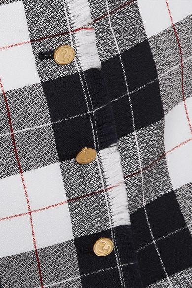 Thom Browne Karierter Minirock aus einer Wollmischung