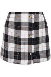 Thom Browne Checked wool-blend mini skirt