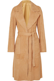 Reversible suede coat