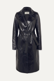 Patent-leather coat