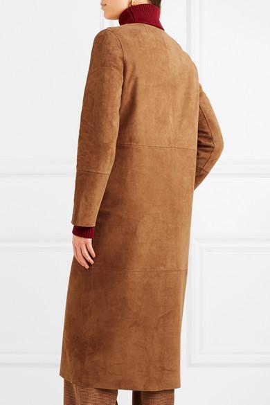 Yves Salomon Wendbarer Mantel aus Leder und Veloursleder
