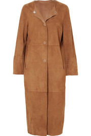 Reversible leather and suede coat