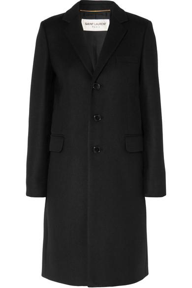 Saint Laurent - Wool-gabardine Coat - Black
