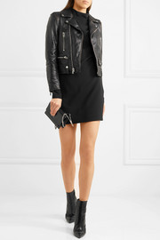 Saint Laurent Perfecto distressed leather biker jacket